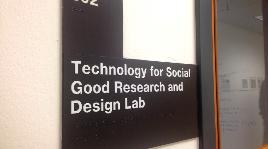 Technology for Social Good Lab sign